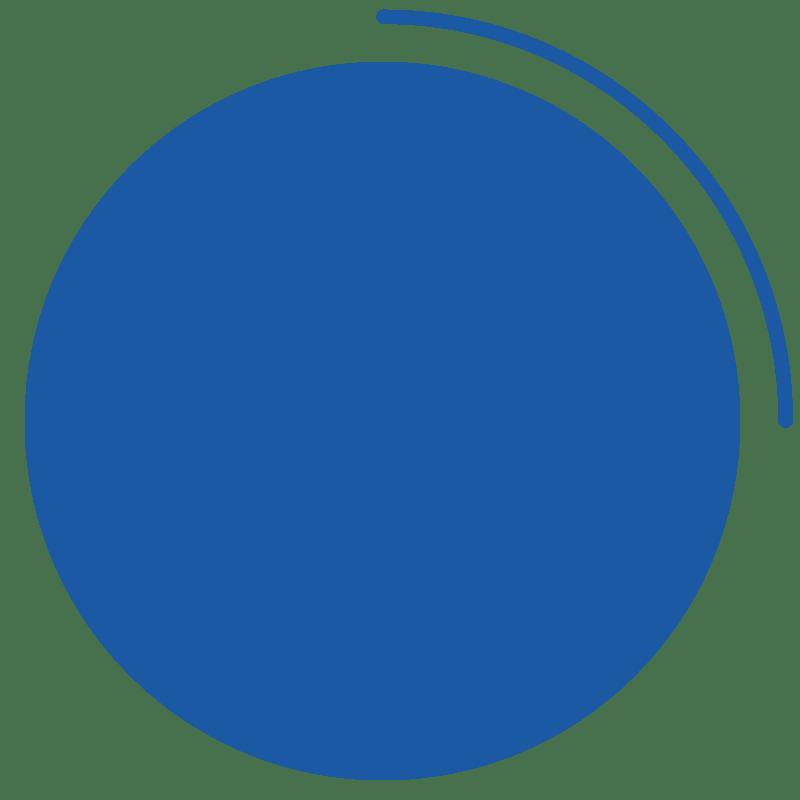 Medium Blue Circle Graphic